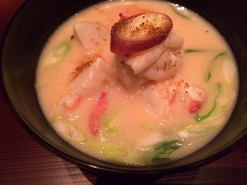 Crab, white miso